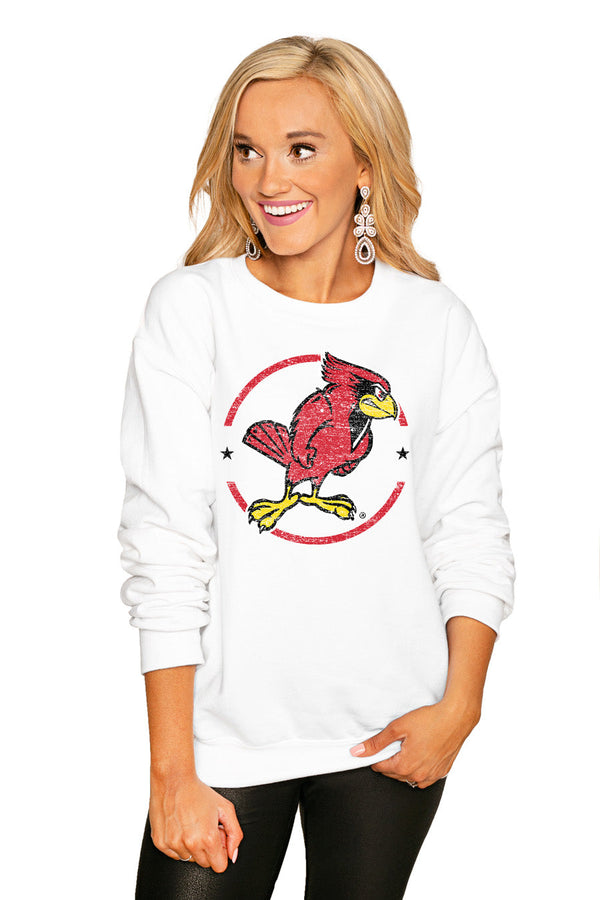 "ILLINOIS STATE REDBIRDS ""END ZONE"" PERFECT COZY CREW SWEATSHIRT"