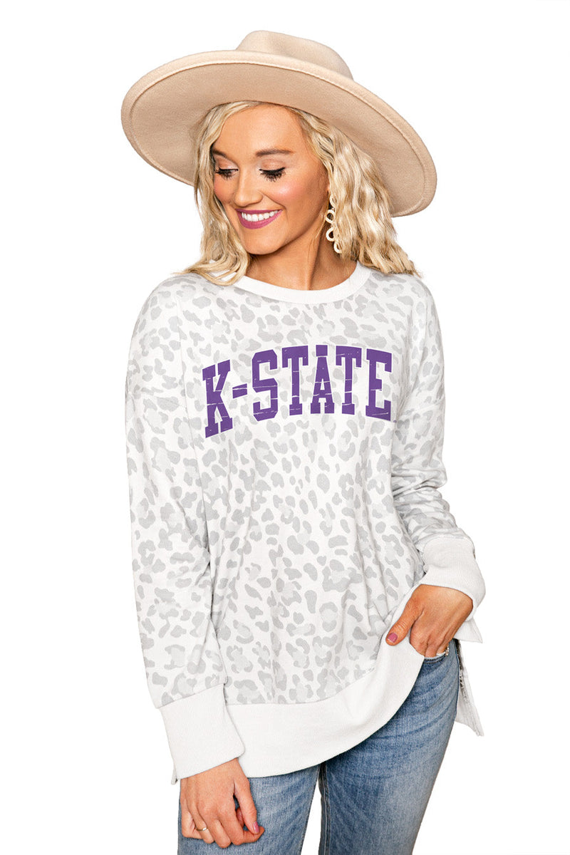 "KANSAS STATE WILDCATS ""DAY OFF"" Crew Neck Side-Slit French Terry Pullover"