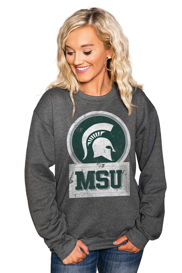 "MICHIGAN STATE SPARTANS ""GOOD VIBES"" Perfect Crew Sweatshirt"