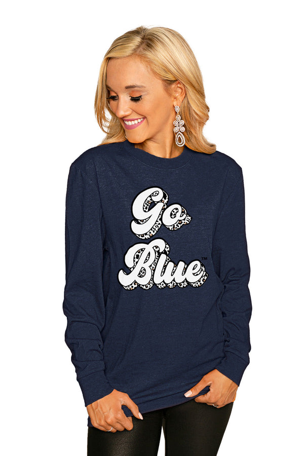 "MICHIGAN WOLVERINES""GAME PLAN"" Luxe Boyfriend Crew"