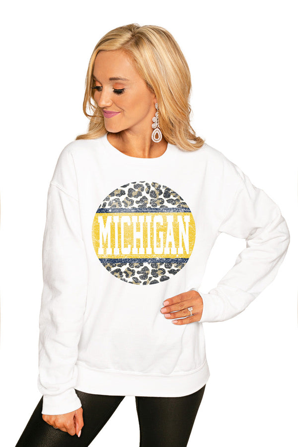 "MICHIGAN WOLVERINES ""SCOOP & SCORE"" PERFECT COZY CREW SWEATSHIRT"