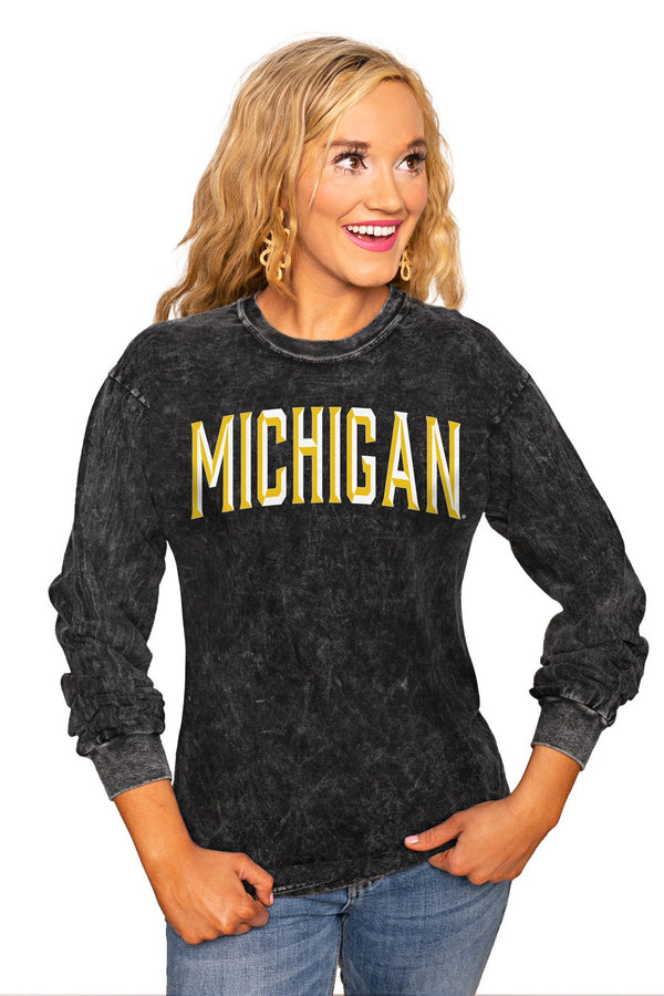 "MICHIGAN WOLVERINES ""GOOD GOING"" RETRO MINERAL WASH CREW"