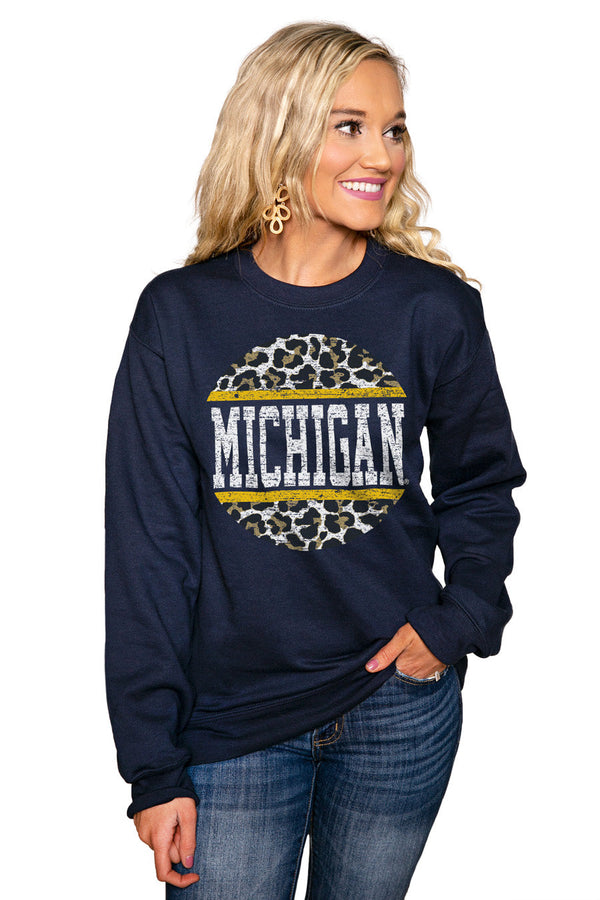 "MICHIGAN WOLVERINES ""SCOOP & SCORE"" Perfect Crew Sweatshirt"