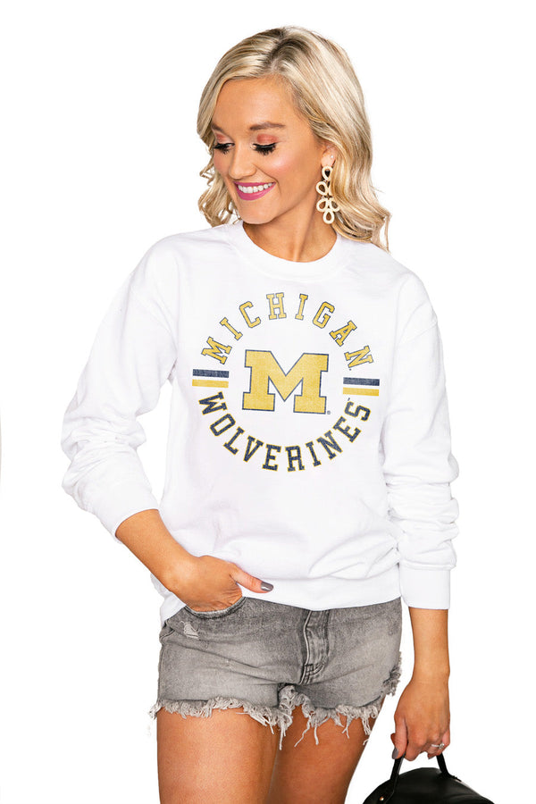 "MICHIGAN WOLVERINES ""VINTAGE DAYS"" Perfect Crew Sweatshirt"
