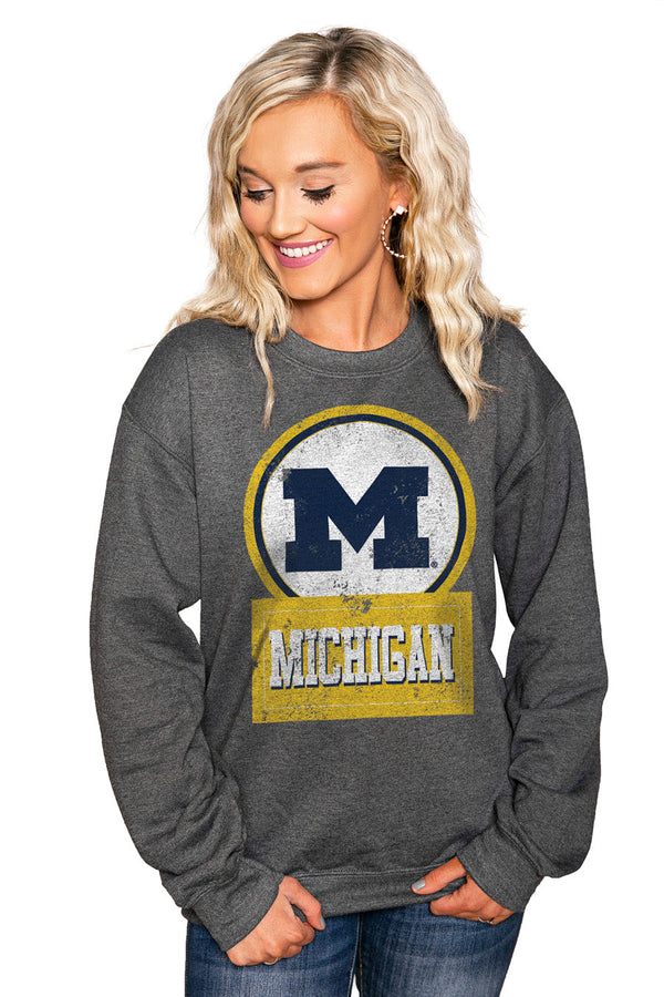 "MICHIGAN WOLVERINES ""GOOD VIBES"" Perfect Crew Sweatshirt"