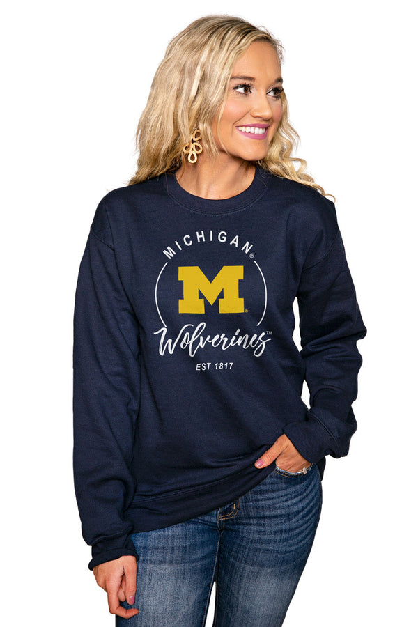 "MICHIGAN WOLVERINES ""FOR THE HOME TEAM"" Perfect Crew Sweatshirt"