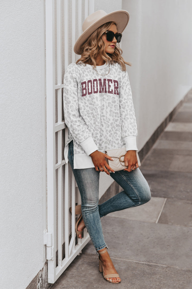 "MISSOURI STATE - WEST PLAINS ""DAY OFF"" Crew Neck Side-Slit French Terry Pullover"