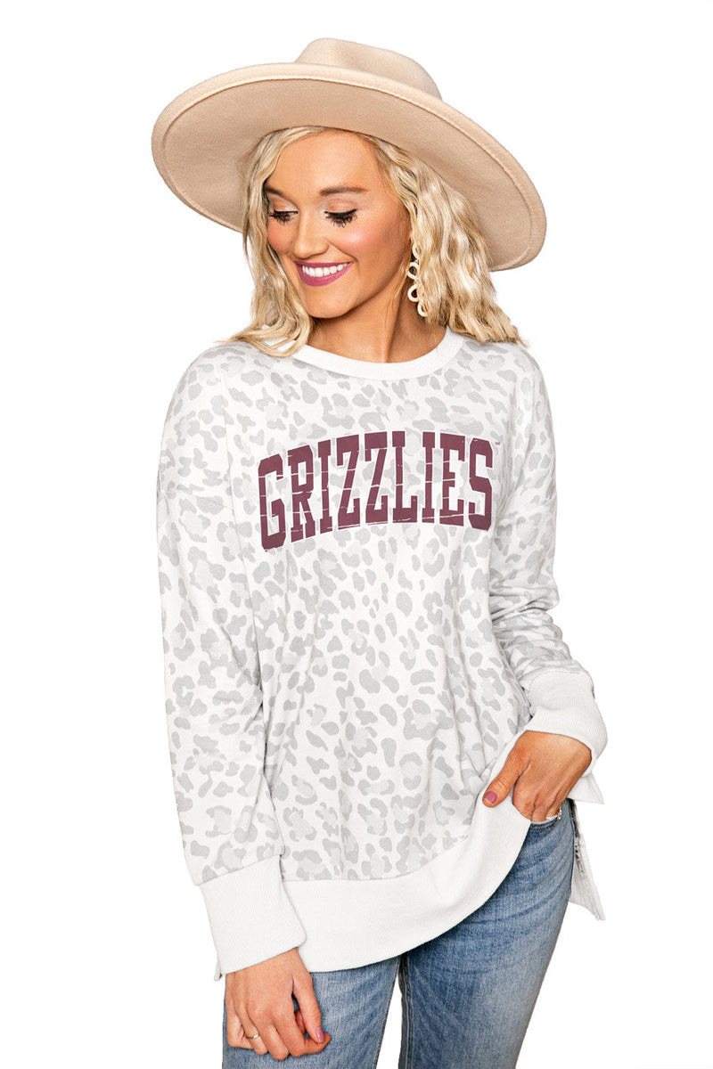 "MONTANA GRIZZLIES ""DAY OFF"" Crew Neck Side-Slit French Terry Pullover"