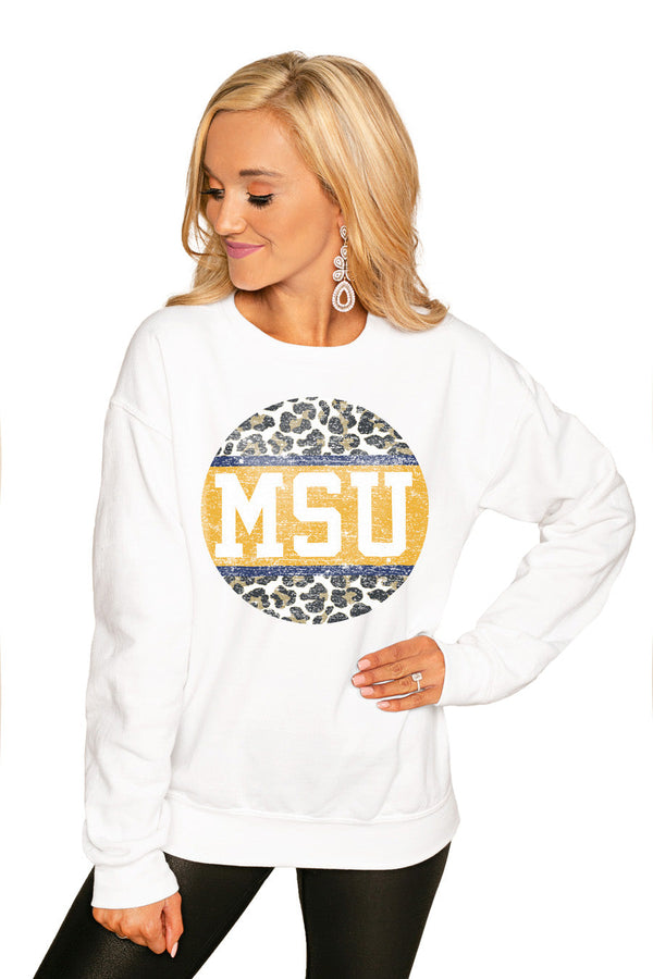 "MONTANA STATE BOBCATS ""SCOOP & SCORE"" PERFECT COZY CREW SWEATSHIRT"