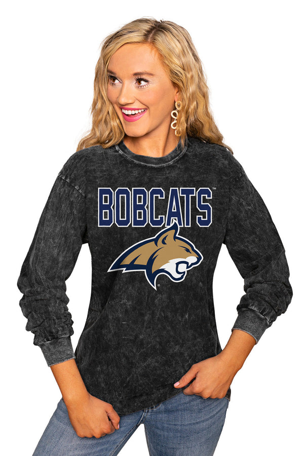 "MONTANA STATE BOBCATS ""FOURTH DOWN"" RETRO MINERAL WASH CREW"