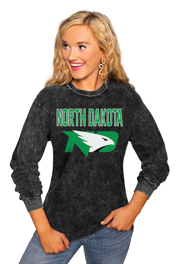 "NORTH DAKOTA FIGHTING HAWKS ""FOURTH DOWN"" RETRO MINERAL WASH CREW"