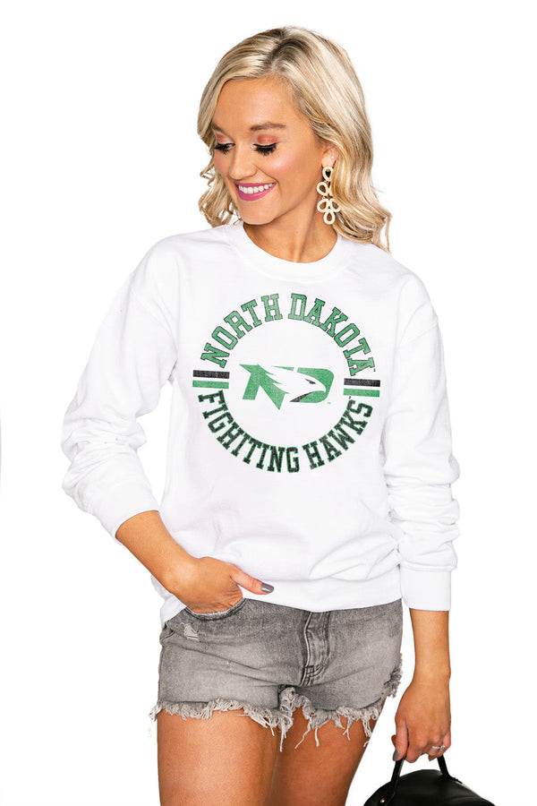 "NORTH DAKOTA FIGHTING HAWKS ""VINTAGE DAYS"" Perfect Crew Sweatshirt"