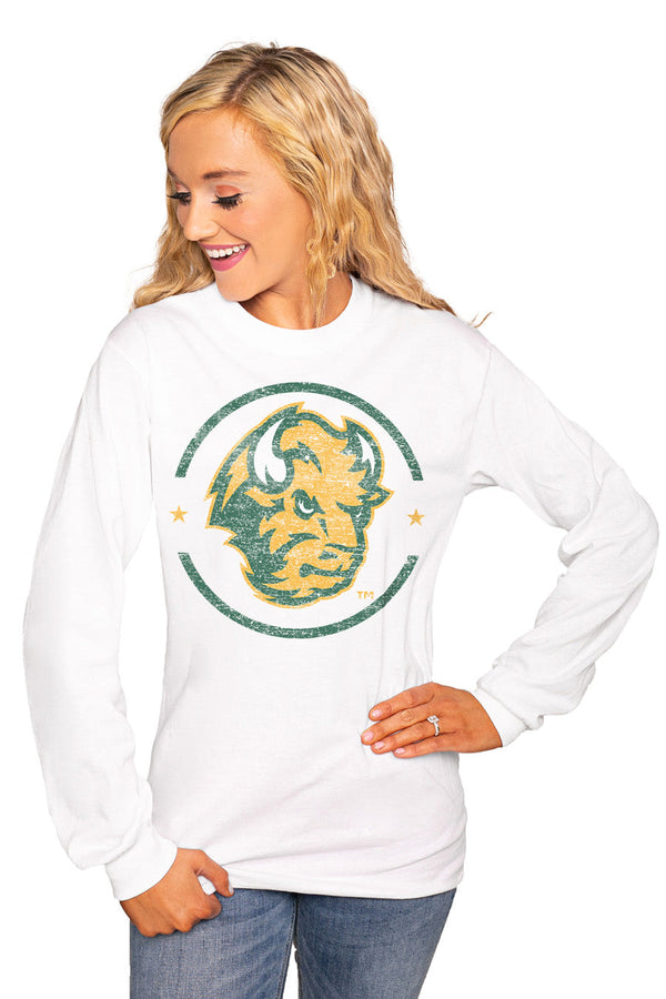 "NORTH DAKOTA STATE BISON ""END ZONE"" Luxe Boyfriend Crew"