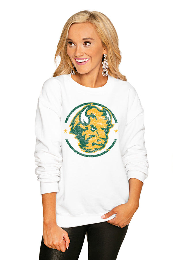 "NORTH DAKOTA STATE BISON ""END ZONE"" PERFECT COZY CREW SWEATSHIRT"