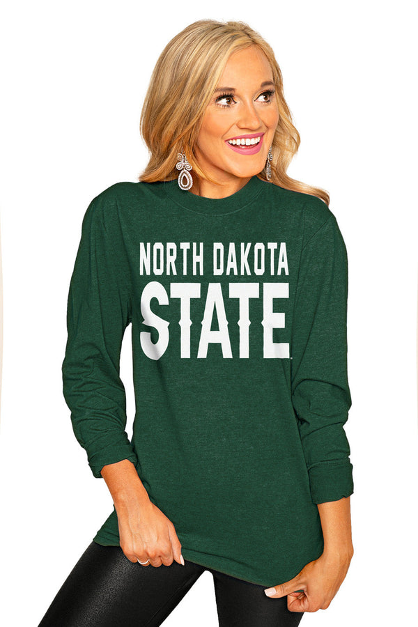 "NORTH DAKOTA STATE BISON ""GO FOR IT"" Luxe Boyfriend Crew"