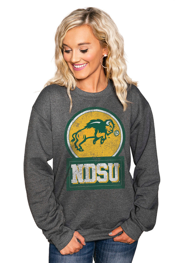 "NORTH DAKOTA STATE BISON ""GOOD VIBES"" Perfect Crew Sweatshirt"