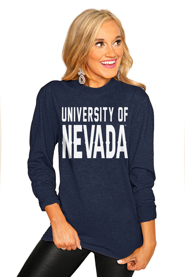 "NEVADA WOLF PACK ""GO FOR IT"" Luxe Boyfriend Crew"