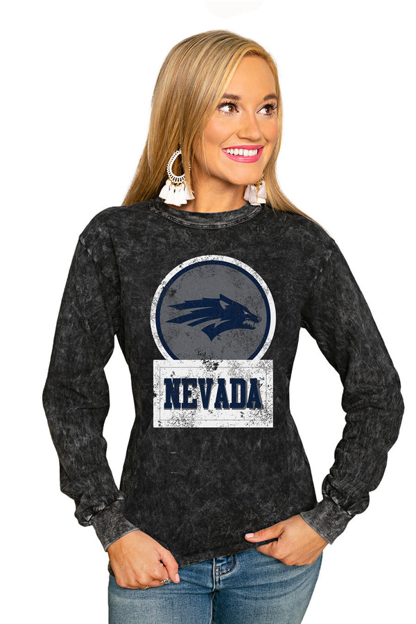 "NEVADA WOLF PACK ""GOOD VIBES"" RETRO MINERAL WASH CREW"