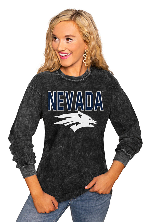 "NEVADA WOLF PACK ""FOURTH DOWN"" RETRO MINERAL WASH CREW"