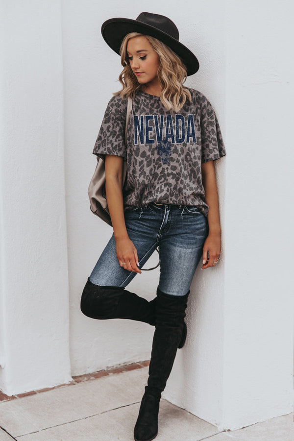 "NEVADA WOLF PACK ""HEADS UP"" Oversized Crewneck Slouchy Fit Tee"