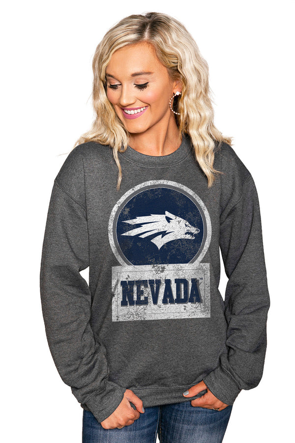 "NEVADA WOLF PACK ""GOOD VIBES"" Perfect Crew Sweatshirt"