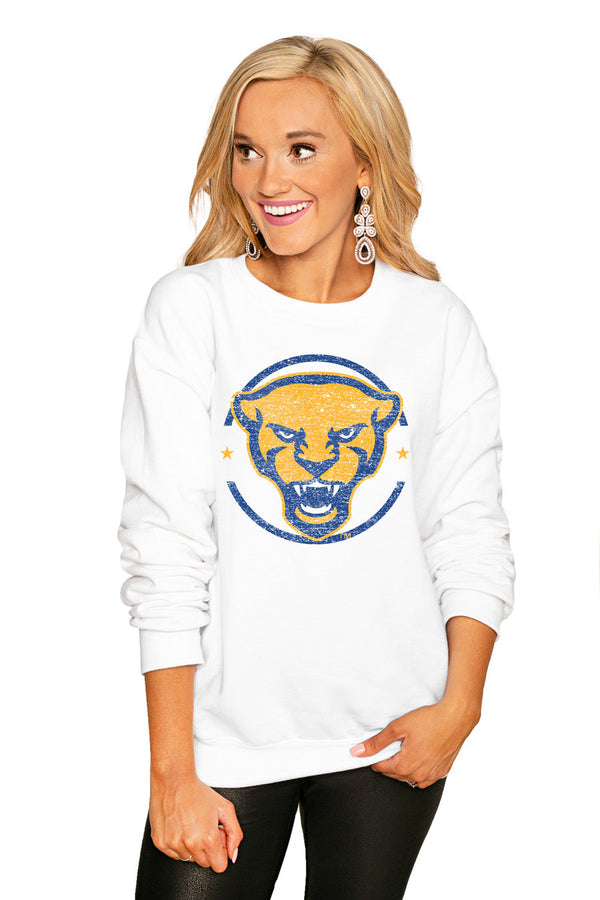 "PITTSBURGH PANTHERS ""END ZONE"" PERFECT COZY CREW SWEATSHIRT"