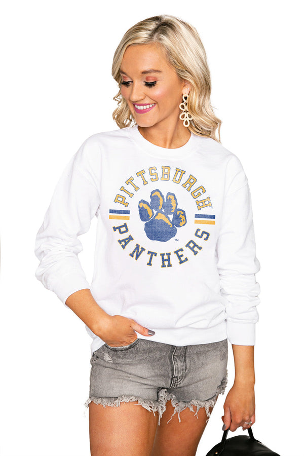 "PITTSBURGH PANTHERS ""VINTAGE DAYS"" Perfect Crew Sweatshirt"