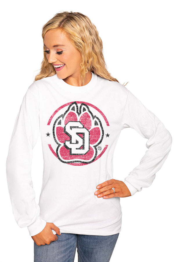 "SOUTH DAKOTA COYOTES ""END ZONE"" Luxe Boyfriend Crew"