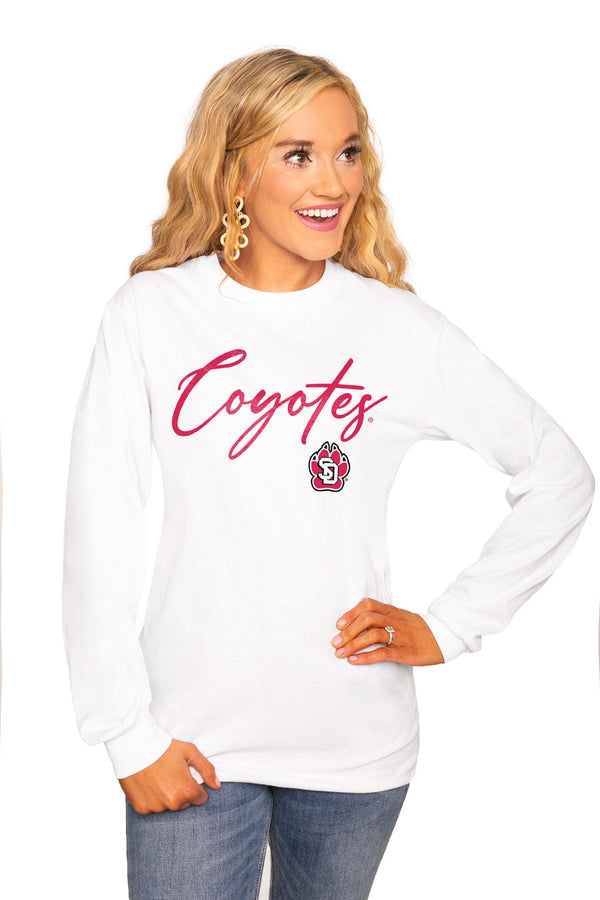 "SOUTH DAKOTA COYOTES ""WIN THE DAY"" Luxe Boyfriend Crew"