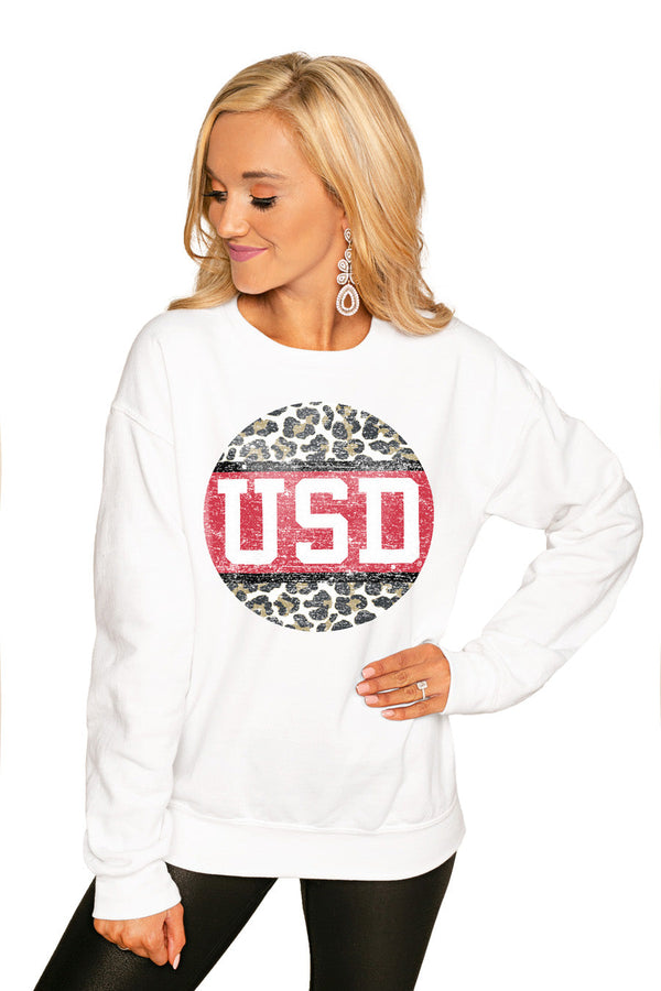 "SOUTH DAKOTA COYOTES ""SCOOP & SCORE"" PERFECT COZY CREW SWEATSHIRT"