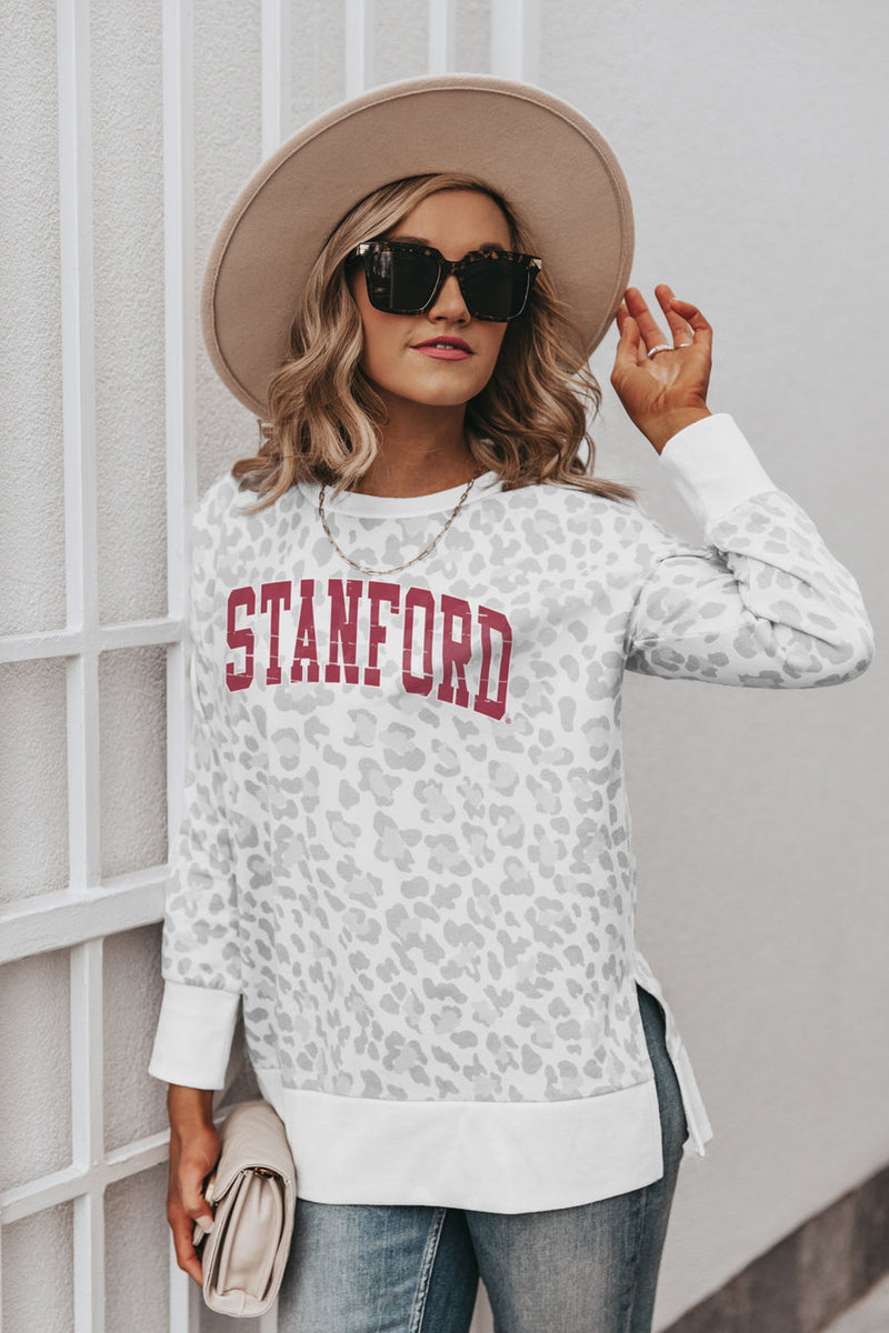 "STANFORD CARDINAL ""DAY OFF"" Crew Neck Side-Slit French Terry Pullover"