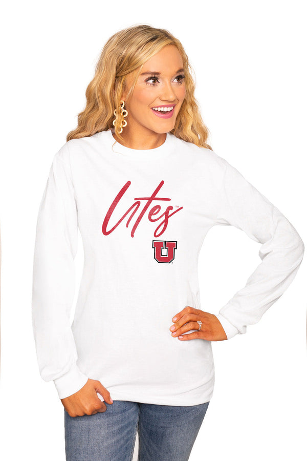 "UTAH UTES ""WIN THE DAY"" Luxe Boyfriend Crew"