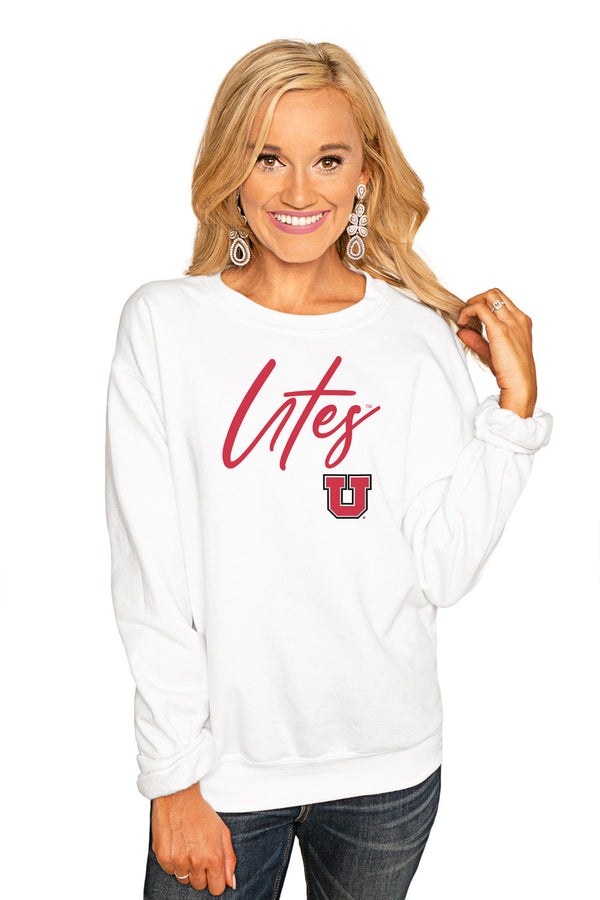"UTAH UTES ""WIN THE DAY"" PERFECT COZY CREW SWEATSHIRT"