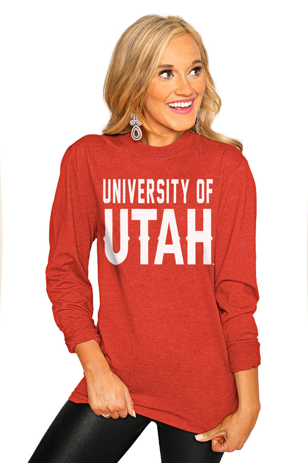 "UTAH UTES ""GO FOR IT"" Luxe Boyfriend Crew"