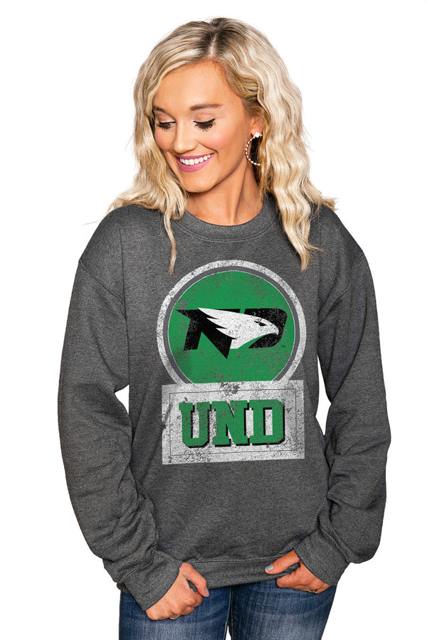 "NORTH DAKOTA FIGHTING HAWKS ""GOOD VIBES"" Perfect Crew Sweatshirt"