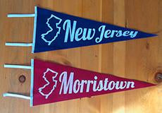 Custom Hand Screened Vintage Style Felt Pennants