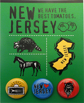 New Jersey, We Have The Best Tomatoes Postcard Backed Button Card