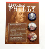 Button Card Custom Designed Philadelphia Museum