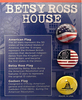 Button Card Custom Designed for the Betsy Ross House