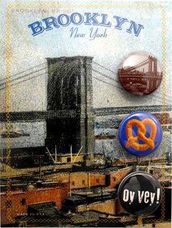 Brooklyn Bridge Button Card