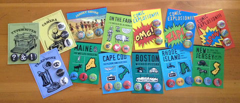 Button Cards By B. Berish