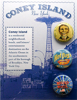 Coney Island Button Card