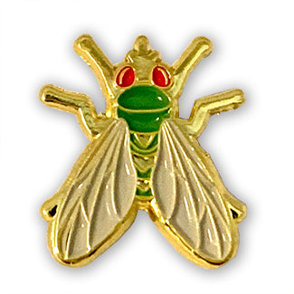 Gold Enamel Fly Pin Designed by B. Berish