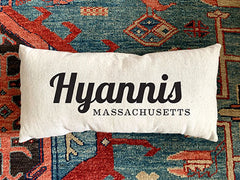 Hyannis Hand Printed Canvas Pillow by B. Berish