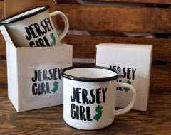 Jersey Girl Enamelware Cup by B. Berish