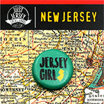 Jersey Girl Button on New Jersey Map