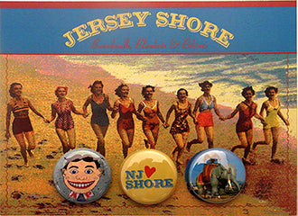 The Jersey Shore, Postcard Backed Button Card