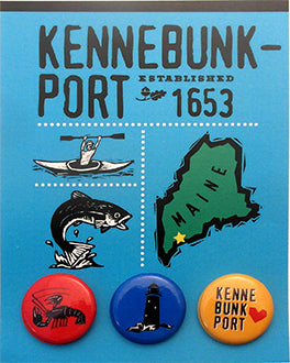 Kennebunkport Postcard Backed Button Card