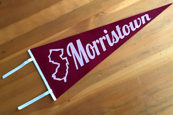 Vintage Style Morristown Felt Pennant Custom Designed by B. Berish