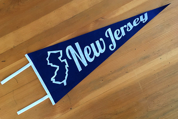 Vintage Style New Jersey Felt Pennant Custom Designed by B. Berish